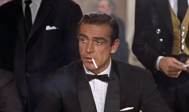 """I admire your luck, Mr...?"" ""Bond. James Bond."""