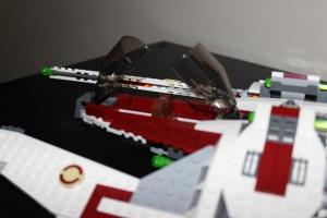 Cockpit double panel open