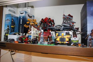 many LEGO sets and some KREO up the back. All thrown together and hidden in the closet.