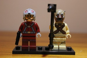 Skyhopper Pilot and Tusken Raider front view