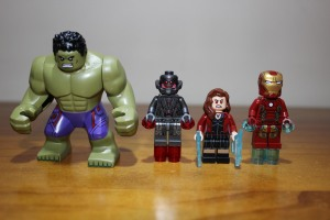 Hulk, Ultron Prime, Scarlet Which, Iron Man Mk43
