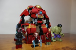 Hulk Buster towers over them all.