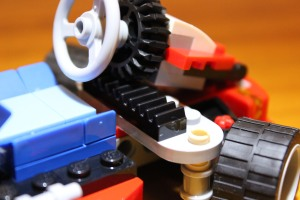 The black pieces control the turning wheel feature