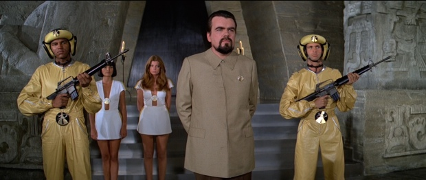 Hugo Drax with his army of women and henchmen