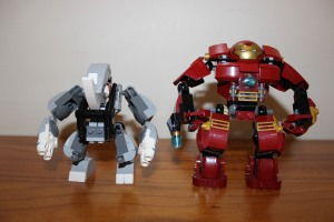 Rhino mech size comparison to the Hulkbuster