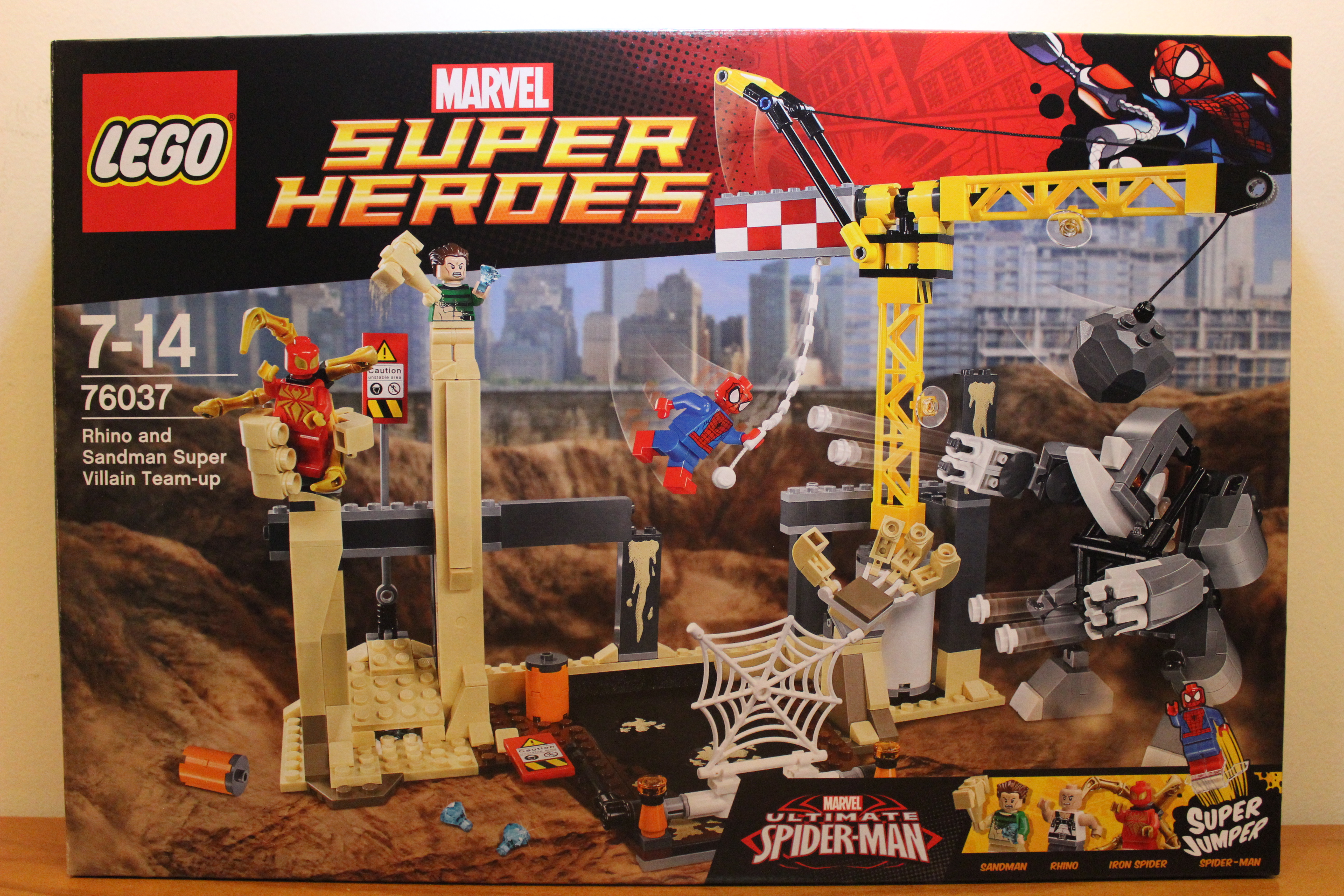 lego marvel rhino and sandman super villain teamup 76037