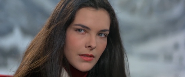 French actress Carole Bouquet playing a British/Greek Melina Havelock