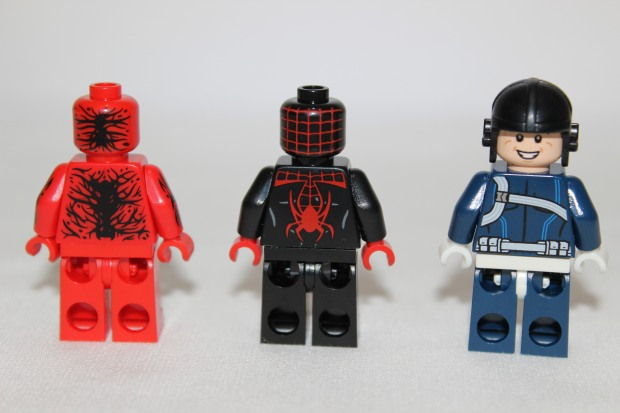 Rear view of the mini figures