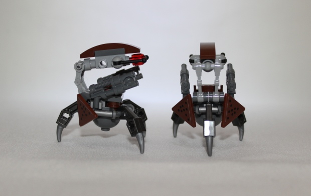 Side and rear view of the Destroyer Droids