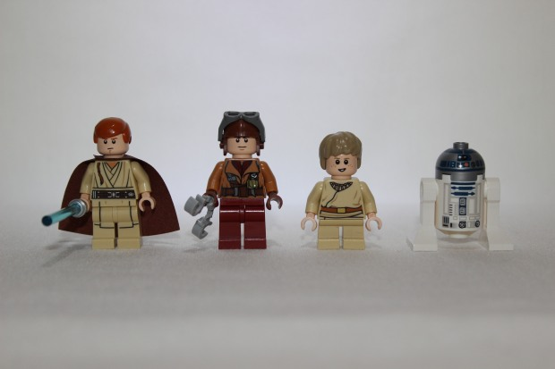 Obi-Wan, Naboo Pilot, Anakin Skywalker and R2D2