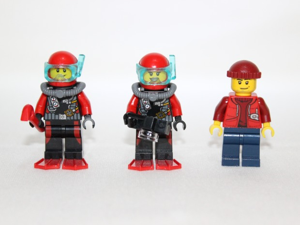 Male and Female scuba divers and Submarine Pilot