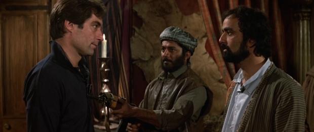 Bond with Kamran Shah, played by Art Malik