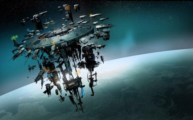 Space Station Source: http://img15.deviantart.net/2192/i/2013/295/b/b/elite_dangerous_space_station_by_martinhoulden-d6rejgz.jpg