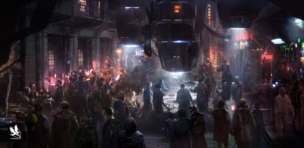 Station Bar Source: http://img10.deviantart.net/6473/i/2015/072/3/4/guardians_of_the_galaxy__bar_concept_by_atomhawk-d8lilqn.jpg