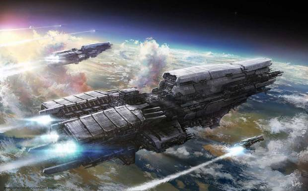 Renegade Shuttle leaving the Planet Source: http://digitalart.io/wp-content/uploads/2013/12/spirit_of_java_by_meganerid.jpg