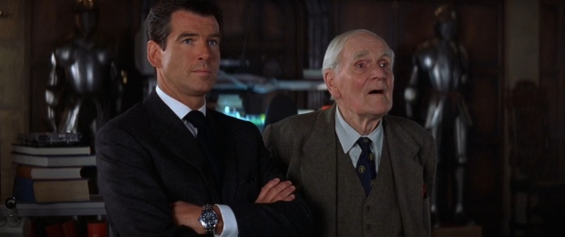 The late Desmond Llewelyn in his final moments as Q