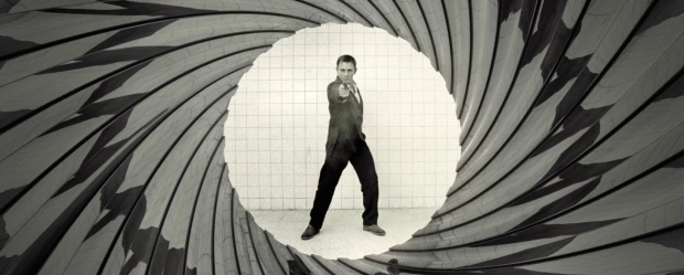 A different spin on the gun barrel sequence