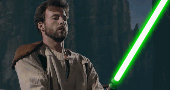 Kyle Katarn during a live action scene from the game