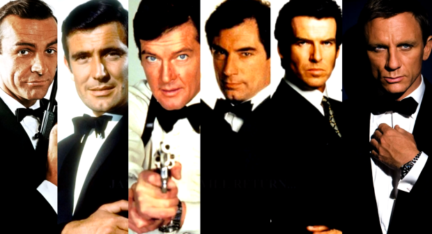 All Bond actors throughout the series