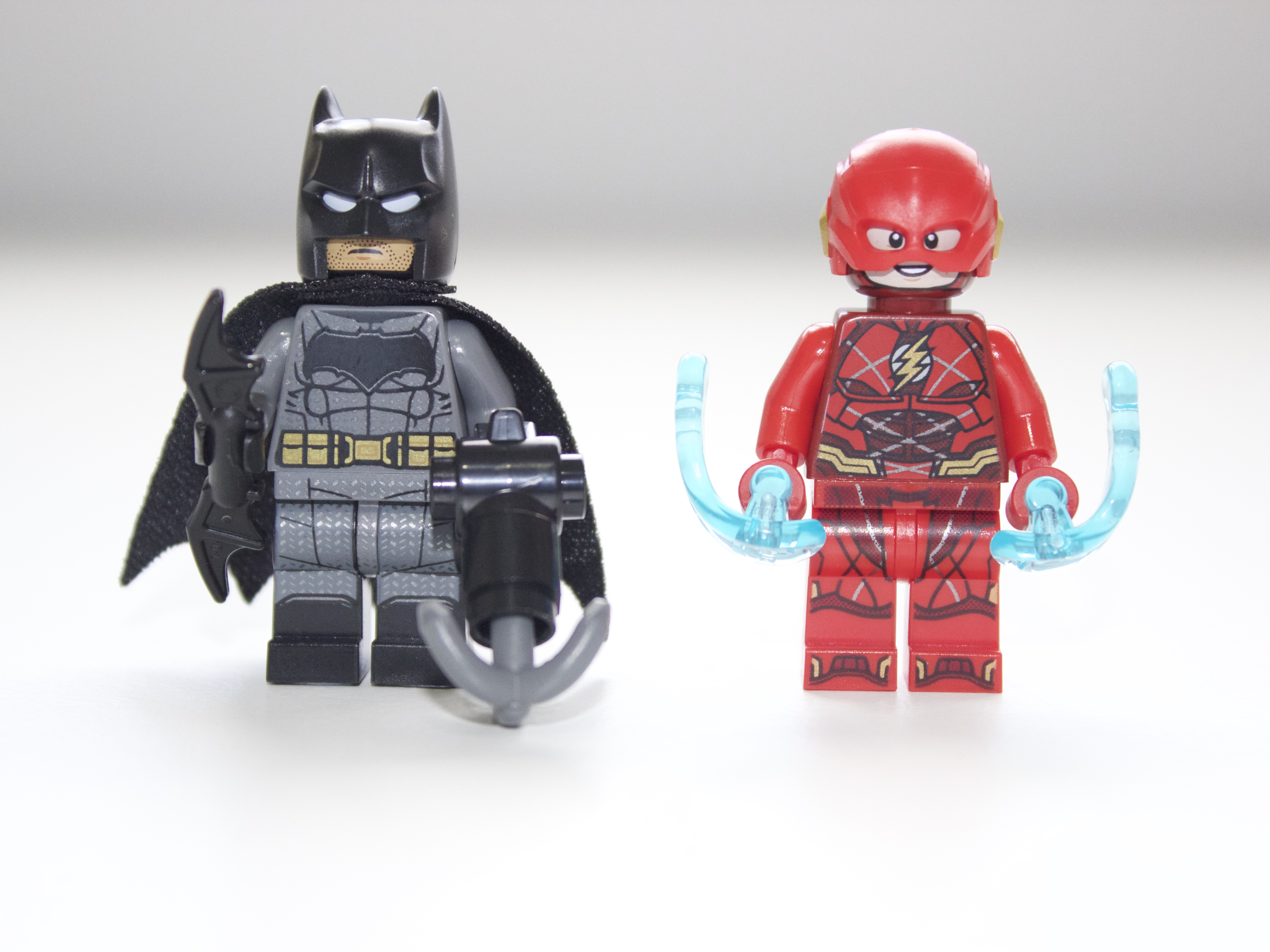 Batman and Flash with all the packed on detailed hidden within the printing c5abc6367c